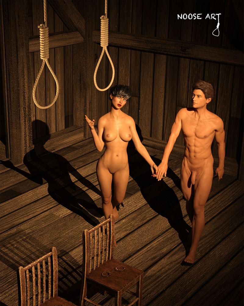 Noose dancing naked girl