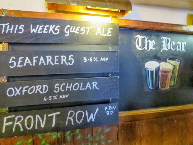 Oxford in a Day: Beer Menu at the Bear Pub