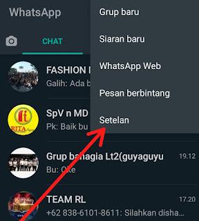 Cara menghilangkan Centang Biru pada Pesan WhatsApp