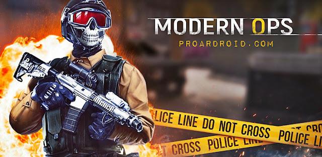 تحميل لعبة الاكشن وافبس Modern Ops - Online FPS النسخة المهكرة