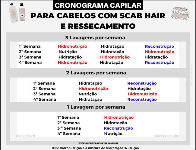 CRONOGRAMA PARA SCAB HAIR