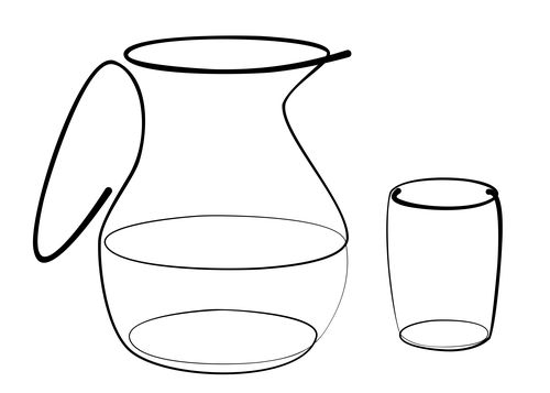 Carafe - glass line