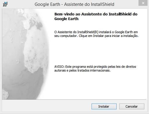 Google Earth: Erro desconhecido do instalador