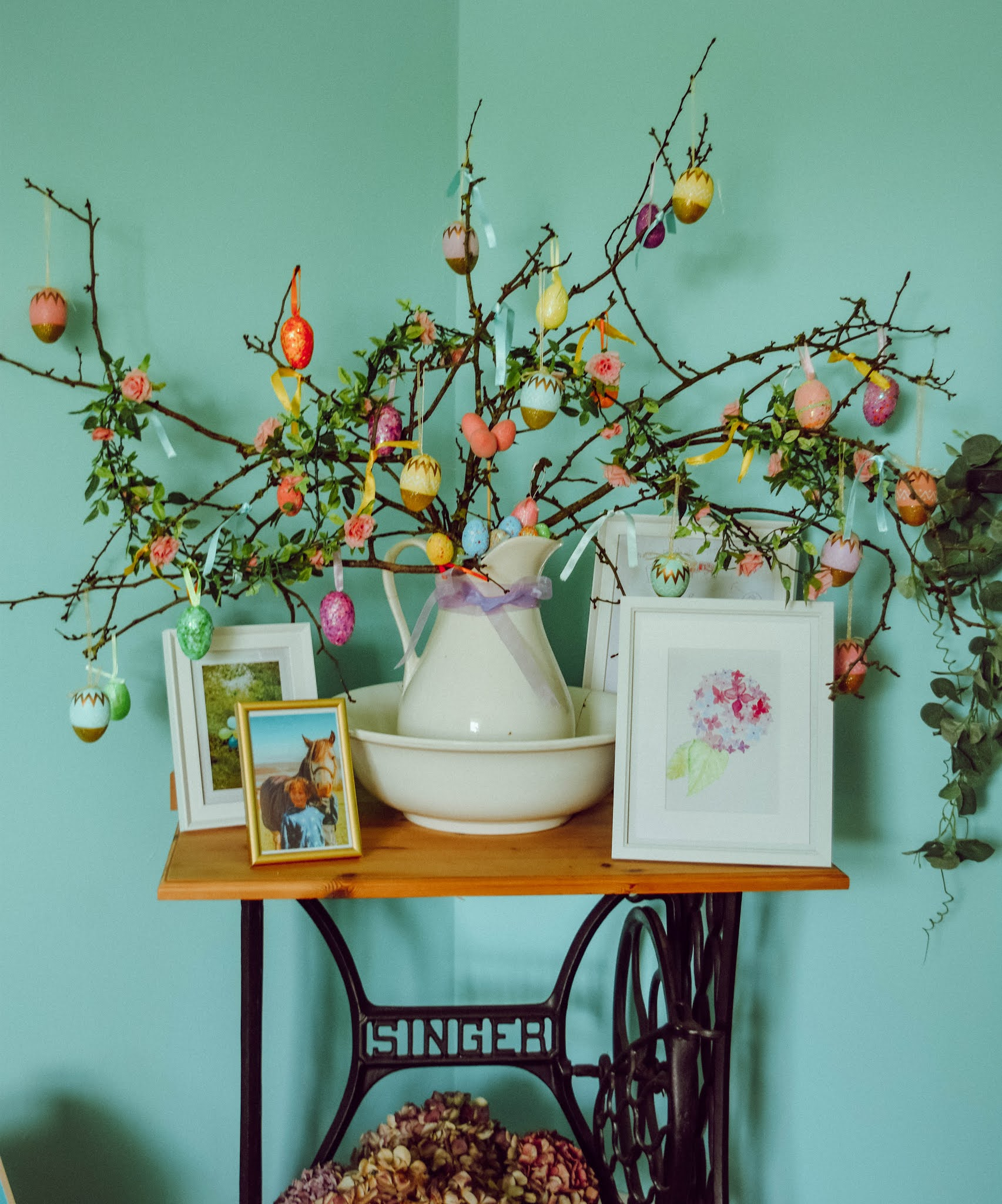 Beautiful DIY Decorative Twig Easter Trees