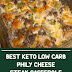 Best Keto Low Carb Philly Cheese Steak Casserole #keto #lowcarbsteak