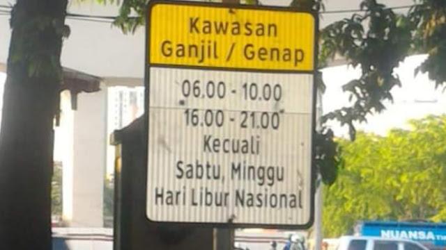 Pemprov DKI Jakarta, Ganjil Genap masih ditiadakan