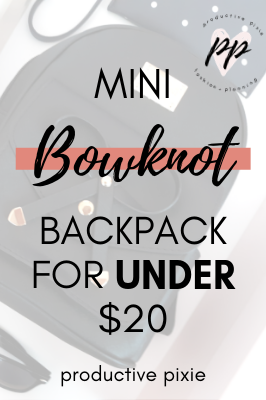 Mini Bowknot Backpack for Under $20