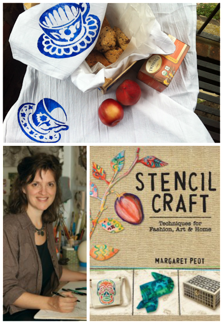 Stencil Printed Tea Towels and Crates for Culinary Gift Giving - a guest post by Margaret Peot, author of Stencil Craft