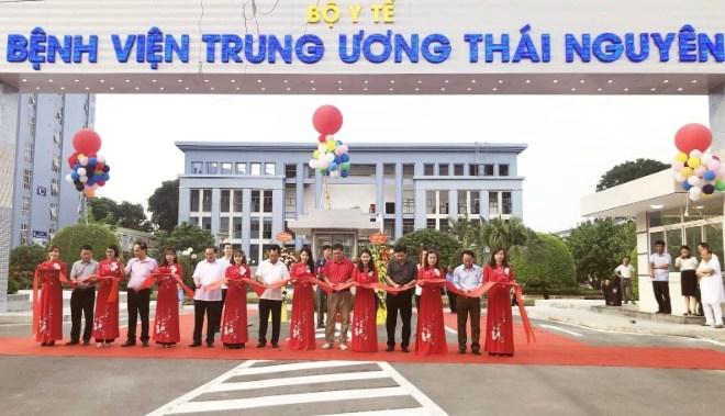 Lắp đặt máy giặt sấy công nghiệp cho bệnh viện tại Thái Nguyên