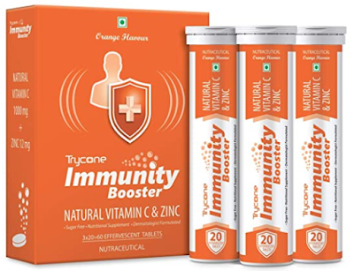 Trycone Immunity Booster – Natural Vitamin C 1000 mg with Zinc 12 mg