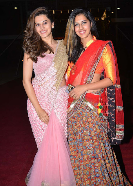 Tapsee-PVP-daughter-half-saree-ceremony