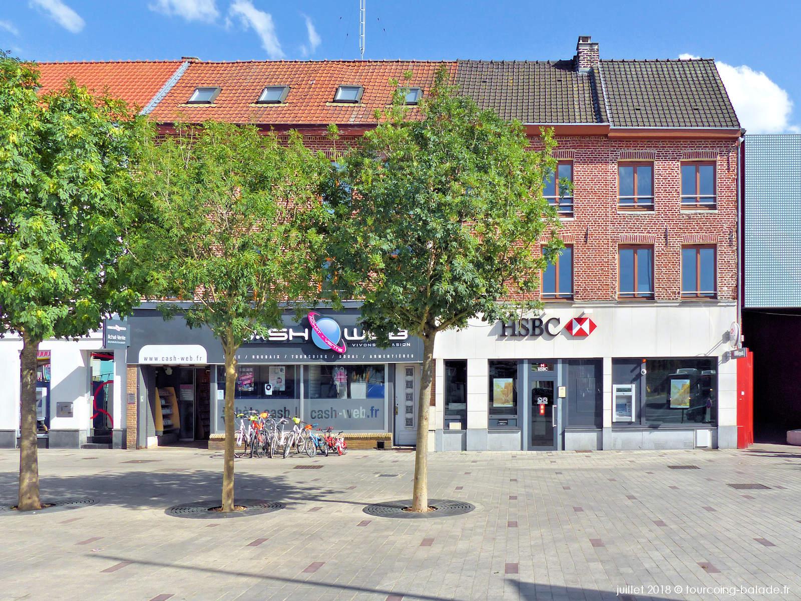 Banque HSBC Tourcoing centre ville.
