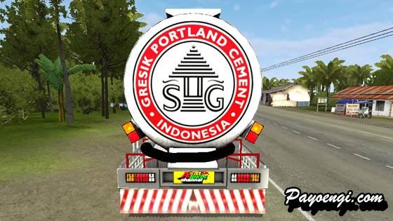 mod bussid truck nissan pk260 tangki semen