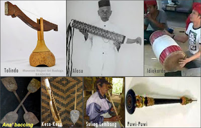 Alat Musik Tradisional Sulawesi Selatan, Gambar dan Penjelasannya