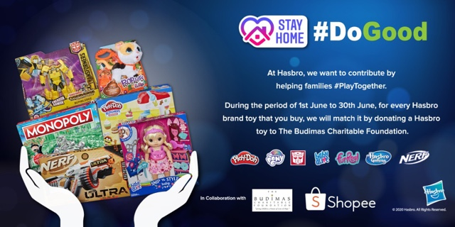 Hasbro Will Donate Toys To Families Affected By COVID-19 With Every Toy Purchase On Shopee