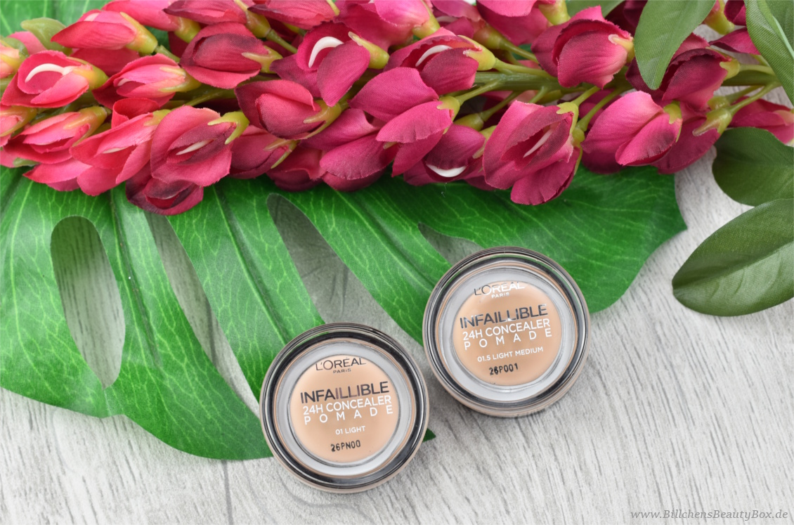 L'Oréal INFAILLIBLE 24H Concealer Pomade - Review und Swatches