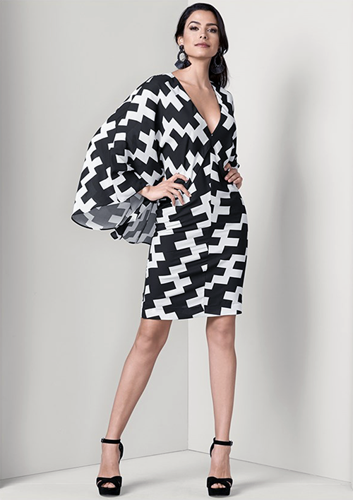 You can be a superhero when you wear this cape dress from Venus.