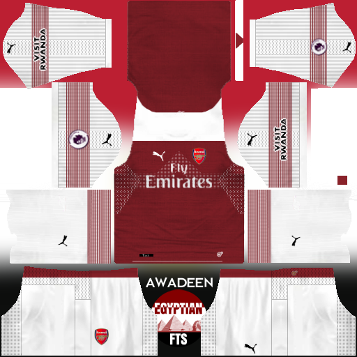 Arsenal FC 2018/19 Kit & Logo | Dream League Soccer