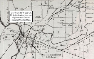 Highways in and around Old Sacramento; US 40, US 99W, CA 16 ... on map of route 10, map of i 76, map of old highway 40, map of atlantic city expressway, map of i-95, map of i 695, map of i 83, map of ca 49, map of i 74, map of interstate i-40, map of i-40 united states, map of interstate 40 arizona, map of sr 16,