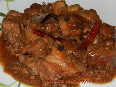 Pork Adobo with Chicken Liver
