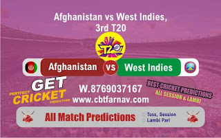 Afghanistan v West Indies in India, 2019 WI vs AFGH 3rd T20 Match Prediction Today Reports