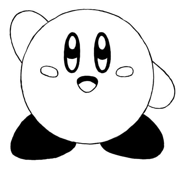 How To Draw Kirby - Draw Central