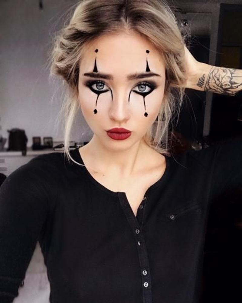 maquiagem palhaço halloween