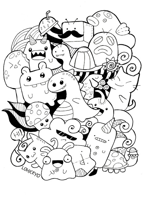 Doodling Doodle Art Coloring Pages For Adults 17 Best Ideas About