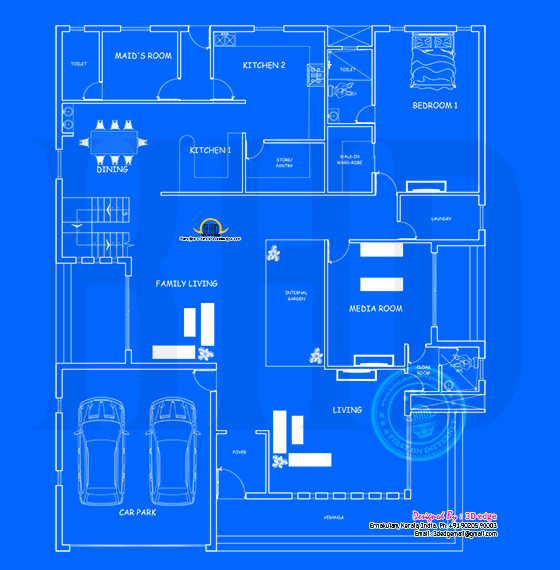 Ground floor blueprint
