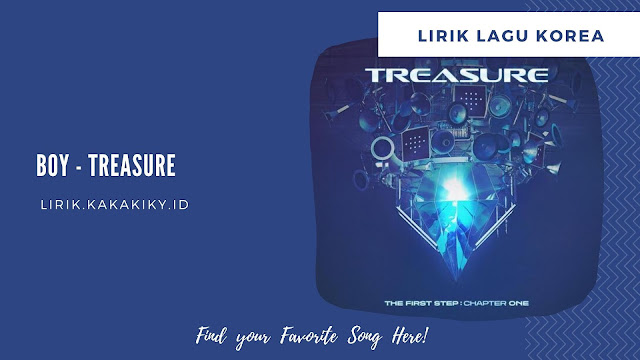 lirik lagu treasure boy