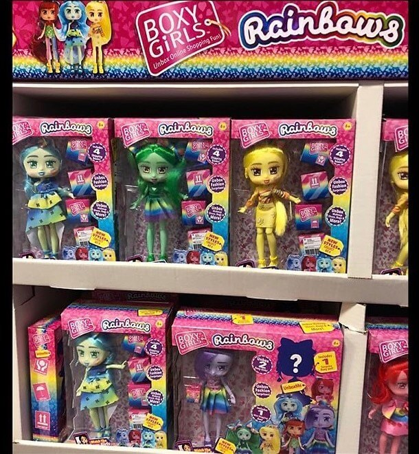 Новые игрушки куклы Boxy Girls Rainbows 2020 года