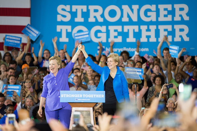 Hillary Clinton and Elizabeth Warren in Ohio