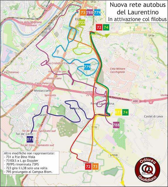 La nuova rete autobus del Laurentino
