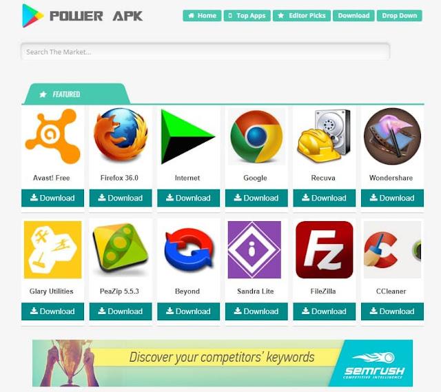 Power APK Blogger Template Free Dlowwnload