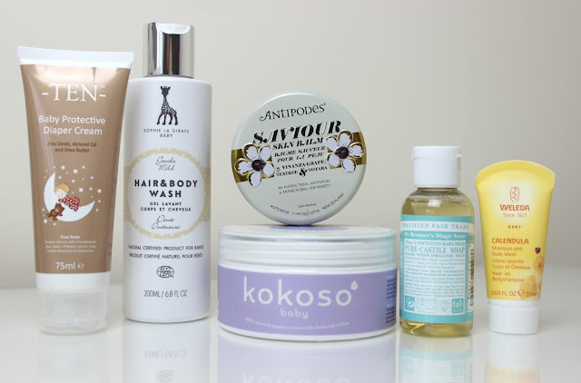 A picture of baby friendly natural and organic beauty brands