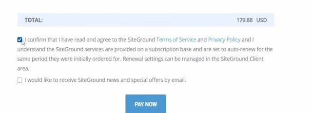 complete siteground purchase