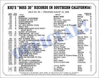 KHJ Boss 30 No. 58 - August 10, 1966