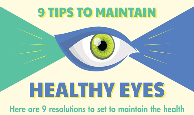 9 Tips To Maintain Healthy Eyes #infographic