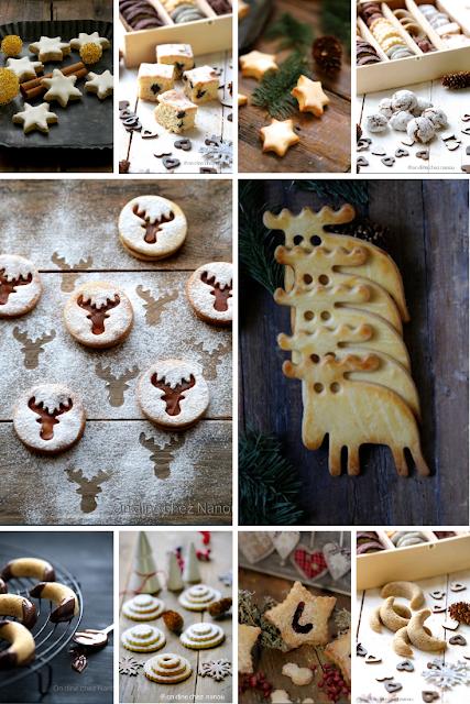 bredele , cookies,noel , trop bons , faciles à faire , etoiles à la cannelle , croissants amandes