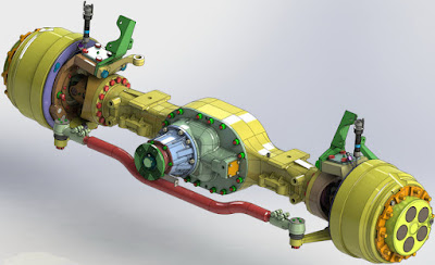 3D Model | Axle for truck | Cad File 3D free downloads