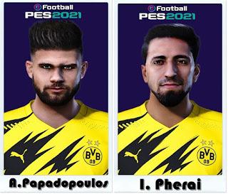 PES 2021 Faces Avraam Papadopoulos & Immanuel Pherai by Shaft