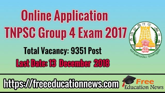 TNPSC Group 4 Exam Notification