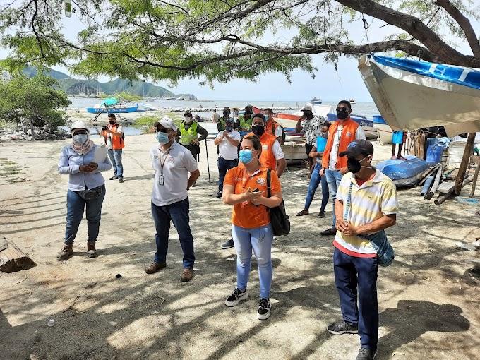 Alcaldía interviene zona de playa y el parqueadero de la Bahía de Santa Marta