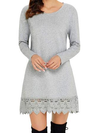 vestito corto invernale