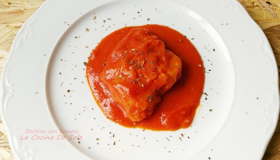 La cocina de sole bacalao con tomate - Cocinar bacalao congelado ...