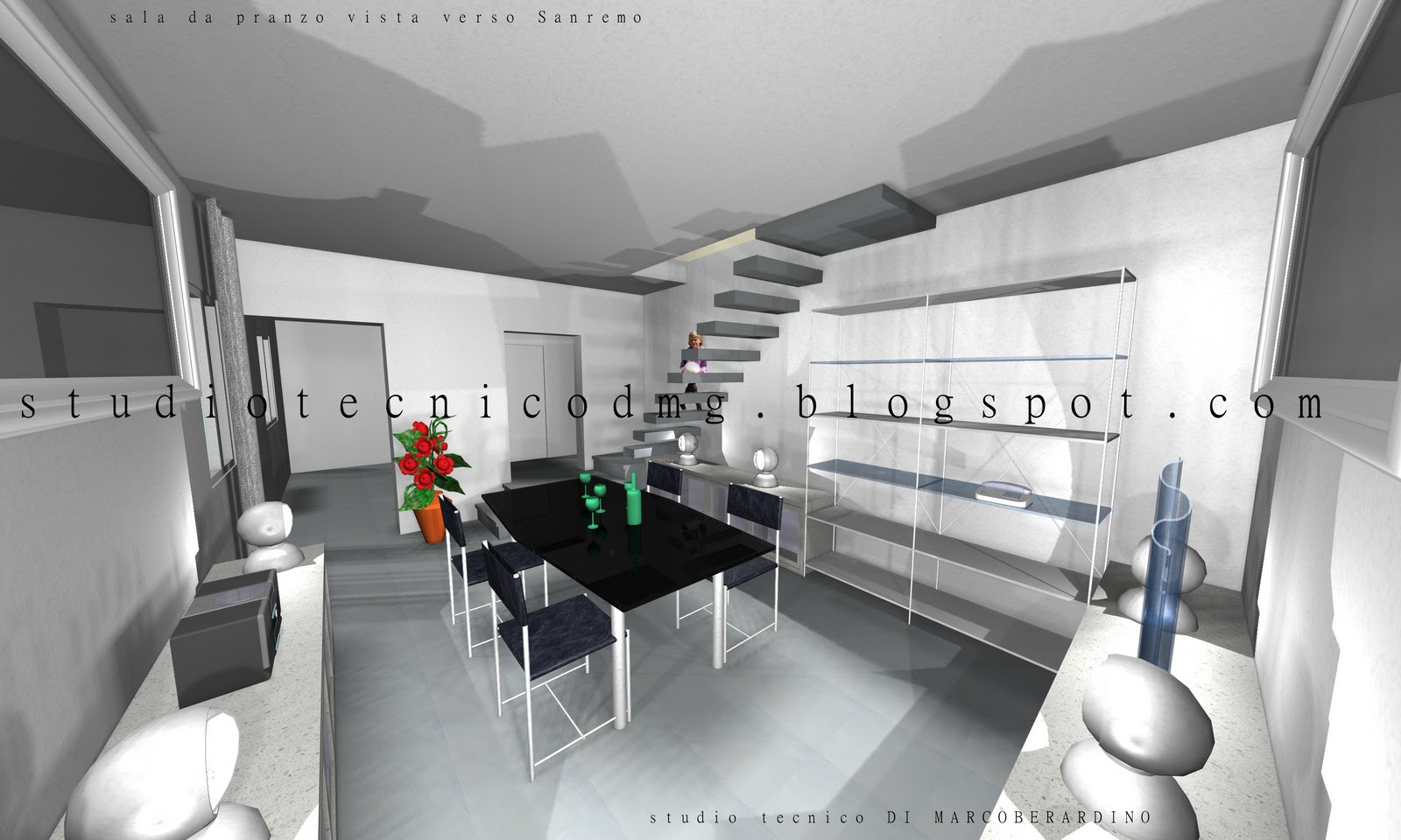 Studio tecnico dmg rendering di interni for Interni design studio