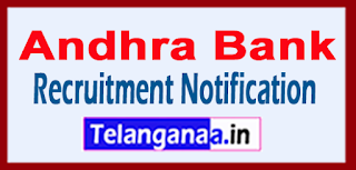 Andhra Bank Recruitment Notification Last Date 24-05-2017