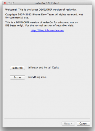 Download Redsnow 0.9.13 dev3 To Jailbreak iOS 6 Beta 3 [ Windows / Mac ]