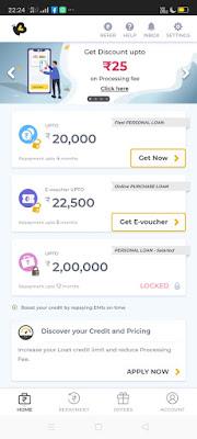 KREDITBEE LOAN EMI चुकाने के बाद 20,000  की नई राशि